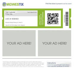 Free Ad Space on Every<br>Print at Home ticket!